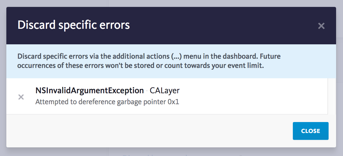 Discarded errors