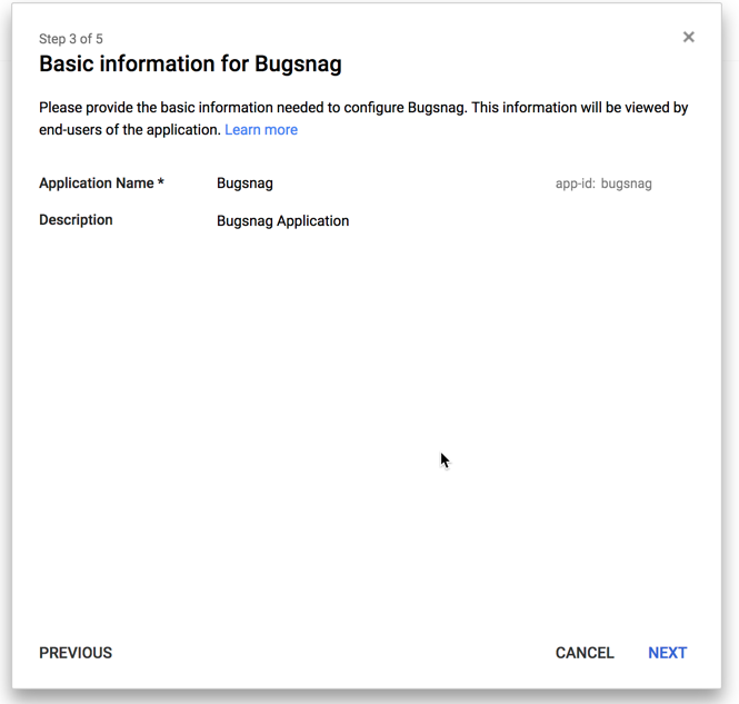 Google Cloud Identity basic info